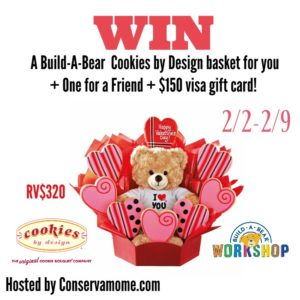 build a bear-cookies by design giveaway