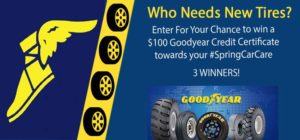 GoodYear #SpringCarCare Gift Certificate Giveaway