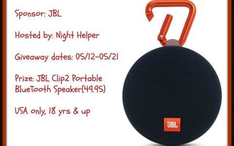 JBL Clip2 Portable Bluetooth Speaker Giveaway