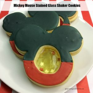 Mickey Mouse Stained Glass Shaker Cookies