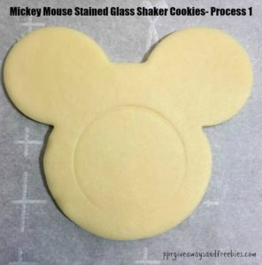 Mickey Mouse Stained Glass Shaker Cookies- Process 1