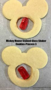 Mickey Mouse Stained Glass Shaker Cookies- Process 3