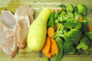 Cast Iron Oriental Pork Dinner- Food Ingredients