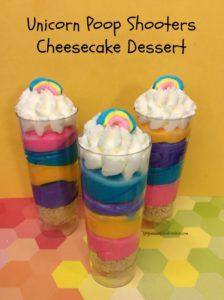 Unicorn Poop Shooters Cheesecake Dessert Final