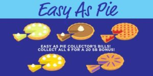 Easy As Pie Collector's Bills