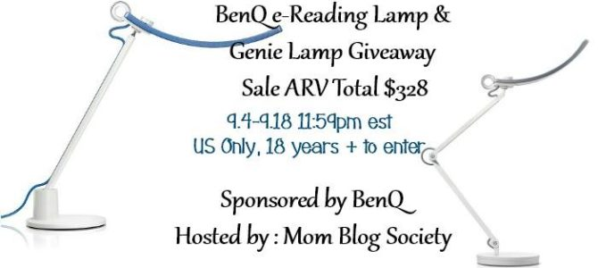 BenQ e-Reading Lamp and Genie Lamp Giveaway