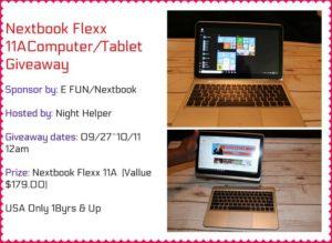 Nextbook Flexx 11A Computer/ Tablet Giveaway
