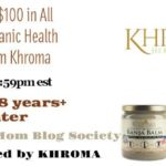 $100 in All Vegan Organic Health Products from Khroma