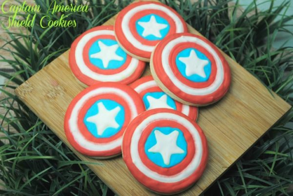 Captain America Shield Cookies 2