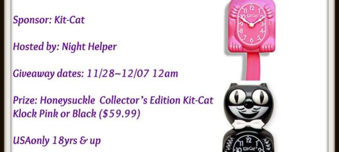 Honeysuckle Lady Collector's Edition Kit-Cat Klock Giveaway