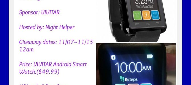 Vivitar Android Smart Watch Giveaway