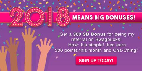 3 Dollar Bonus When You Sign Up for Swagbucks in January