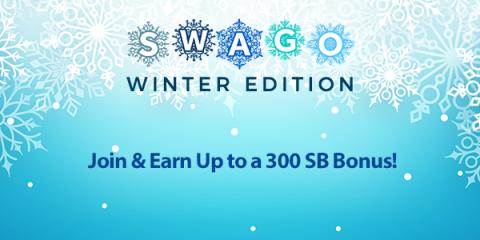 January Swago with Spin and Win